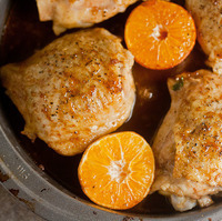Clementine-Soy Chicken Thighs