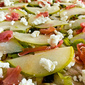 Pear, Goat Cheese & Leek Pizza with Prosciutto