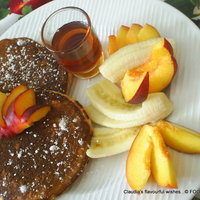 Oatmeal Honey Spiced Pancakes