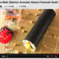 Lucky Eho-Maki (Salmon Avocado Alasca Futomaki Sushi Roll) - Video Recipe