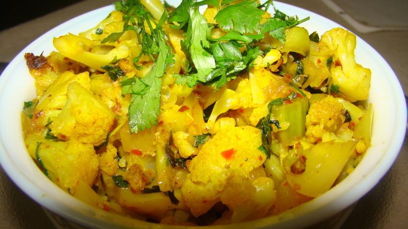 Aloo Gobi-Cauliflower and Potatoes-Indian Style