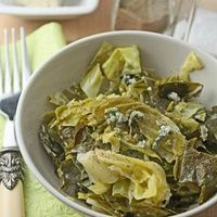 Spring greens with blue cheese