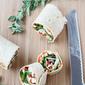 Chicken Pinwheel Sandwich Recipe with Roasted Red Pepper, Kalamata Olives & Herb Yogurt