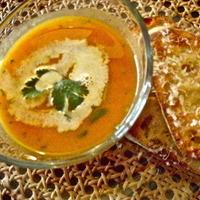 Coriander Spiced Carrot & Sweet Potato Soup