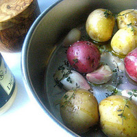 Winter Roasted Potato Salad w/ Garlic & Herbs