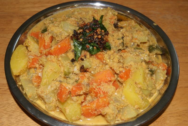 Vegetable aviyal kootu