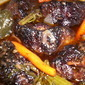 Oxtails and Mushroom Mirepoix in Red Wine Reduction