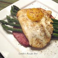 Aspargus, Ham and Fried Egg Stacks for Brunch