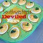 February's Secret Recipe Club - Southwestern Deviled Eggs