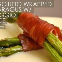 Prosciutto Wrapped Asparagus w/ Taleggio Sauce