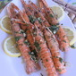 """Barbecue style"" langoustines with cumin"