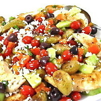Greek-Style Chicken and Roasted Potatoes, Low Calorie and Bursting with Flavor