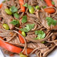 Teriyaki Beef with Edamame Noodles