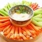 Sesame Butter Dip with Vegetable Sticks