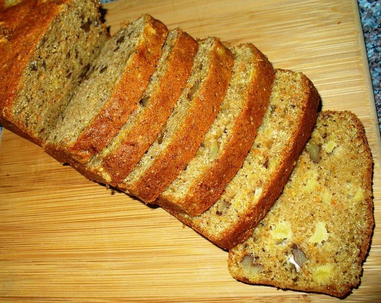 Carrot Pineapple Nut Bread