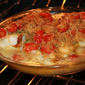 Italian Bake Scallops with White Wine and Stuffed Grape Tomatoes