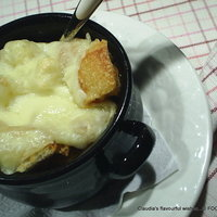 French style ONION soup gratin...my version
