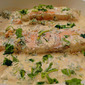 Salmon in coconut creme- tasty and different experience.