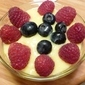 Meyer lemon curd with berries