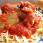 CRAZY COOKING CHALLENGE - Spaghetti with Red Sauce & Meatless Pecorino Meatballs