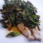 Mackerel with Hot Sour Spicy Spring Greens