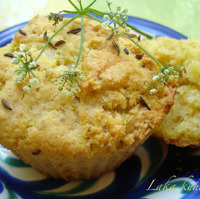 Caraway cheese muffins