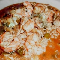 SHRIMP AND CRABMEAT ETOUFFEE