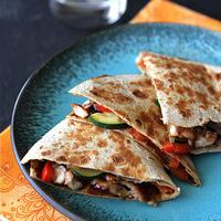 Asian Quesadilla with Chicken, Zucchini & Hoisin Sauce Recipe