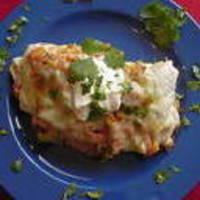 Tex-Mex Sour Cream Chicken Enchiladas