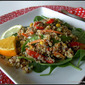 Warm Quinoa and Veggie Salad with Savannah Citrus Vinaigrette....Celebrating 100 years with the Girl Scouts