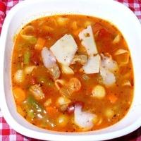 Mediterranean Beef Minestrone Soup