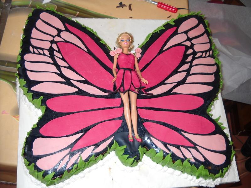 Torta Barbie Mariposa Recipe By Fabio Cookeatshare
