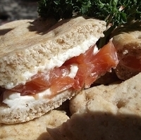 Smoked Salmon and Cream Cheese Sandwiches