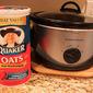 Crockpot Apple Overnight Creamy Oatmeal for Breakfast