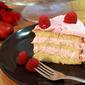 Vanilla Sponge Cake with Raspberry Mousse - a birthday special !!
