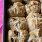 Hot Cross Buns Recipe with Dark Chocolate & Dried Cherries