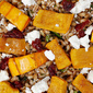 Farro Salad With Roasted Winter Squash, Spinach & Chèvre