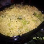 Yellow Garlic Rice and Broccoli