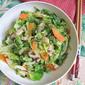 Stir-Fry Brussel Sprouts, Shiitake Mushrooms - 蘑菇清炒甘蓝小包菜