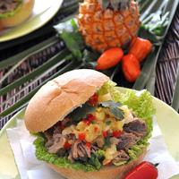 Kalua Pork Torta with Pineapple Salsa Recipe: A Slow-Cooker Recipe