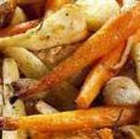 Garlic Butter Pan Roasted Root Vegetables