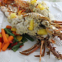 Spiny Lobster Stuffed with Crab.....Florida Key's Style
