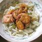 Jumbo prawns and pasta