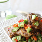 Spicy Chicken Thigh Recipe with Cucumber Avocado Salsa