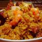 Rice with Pork Chops, Dominican Locrio de Chuletas y Camarones