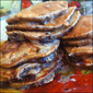 Nutrition Packed Caramelized Banana and Dark Chocolate Chunk Pancakes