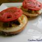 Grilled Chicken Pesto Open Faced Sandwich