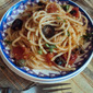 Pasta with Tomatoes, Olives, Capers & Bread Crumbs