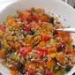 Farro Salad with Bell Peppers and Olives