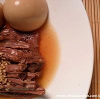 Jang Jorim (Soy Beef Strips) w Hard Boiled Eggs